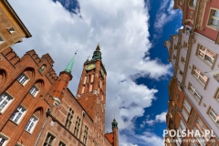 City hall in the old town of Gdansk, Poland