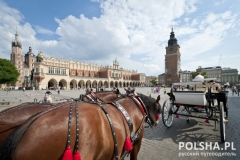 Cabb on the Old Town in Krakow, Poland