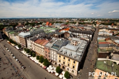 View of the old town of Cracow, old Sukiennice in Poland