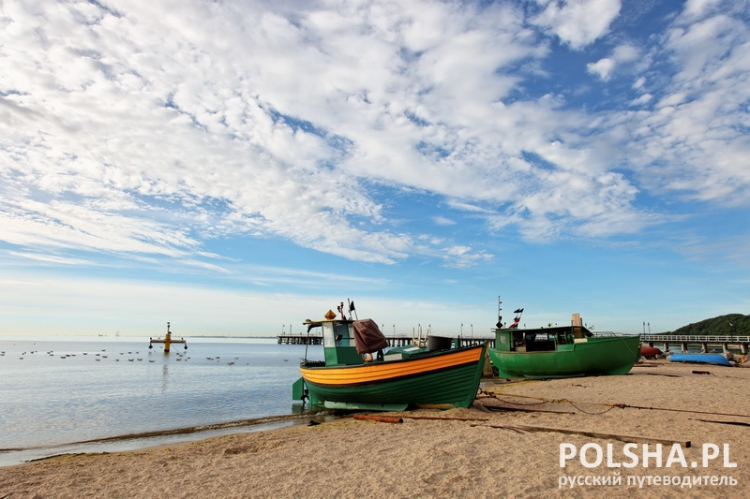 Fishing boats in Orlowo, Poland