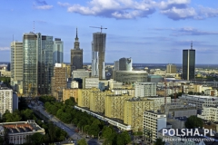 Warsaw aerial view